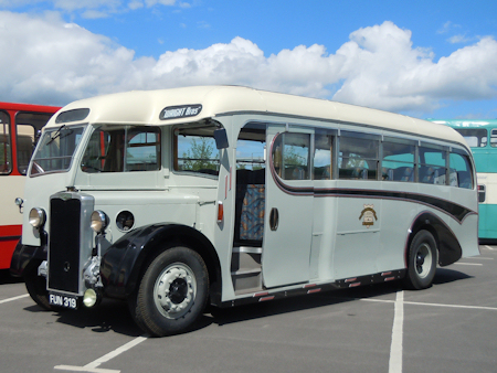 Wrights Burlingham bodied Crossley FUN 319